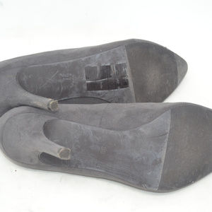 H&M Shoes - H&M Women's Suede Grey Pointed Toe Stiletto Heels